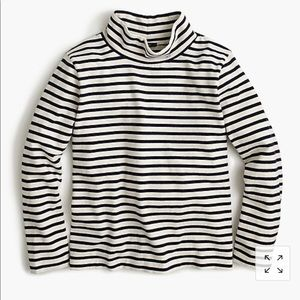J. Crew Sailor-stripe funnelneck t-shirt